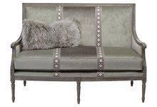 "Oakridge 56"" Settee Silver/Sage hotel sofa furniture bedroom set"