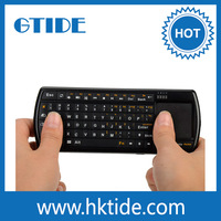 Backlit Keys 2.4G Wireless Universal Remote Qwerty Keyboard With Touchpad