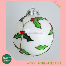 Fashionable 100 wholesale clear glass christmas ball ornaments