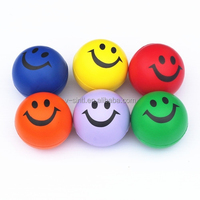 Hot sale factory Smile Face Relaxable Ball Assorted colors Squeeze Ball Pu stress balls for fun