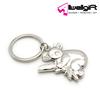 Bright silver color Koala shape keychain