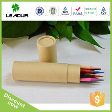 Artist color pencil in paper tube packing