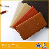 high quality leather cell phone case for iphone 6 with stand ,for iphone 6 flip PU leather cell phone case