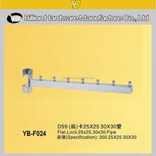 YB-F024 china fashion factory square tube waterfall clothes hookcrossbar hook