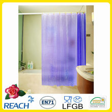 Cortinas para ducha en relieve 3D EVA color puro