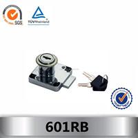 601RB cylinder push drawer lock