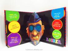 FDT customizes full color children 3D pop up book printing