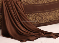 Super comfortable king size 19mm 100% charmeuse silk bed flat sheet (108*102'')
