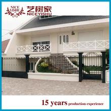 2015 new models galcanized cast iron square tube antique iron gates rod iron gates ornamental garden gates
