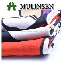Mulinsen Textile Competitive Price 100% Polyester 75D DTY Interlock Printed Fabric Material
