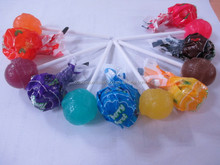 OEM yummy assorted fruit flaovrs lolly candy