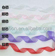 Colorful wedding with organza ribbon