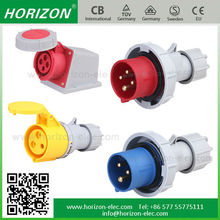 2P+E, 3P+E,3P+N+E IP67 IP44 Male and female electrical industrial plug and socket Water-proof