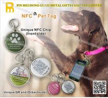 Small MOQ nfc metal tags with print custom logo