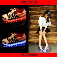 FGX-004 8 Colors 2015 New Women's and Men's Running Shoes Led Shoe Sole Light ,led lights for shoes