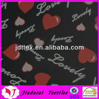 Attractive heart high elastic textile design print fabric for underwear and swimwear