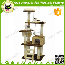 large size cat scratcher, beige cat cardboard, high quality cat tree with ladders