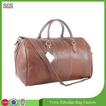 Genuine Italian Leather Duffle Weekend Travel Overnight Men Travel Bag