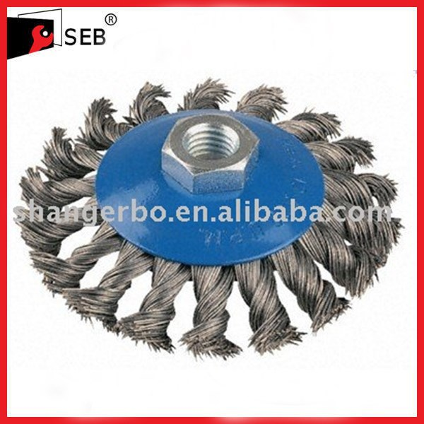12 Quot Knot Wire Wheel For Straight Shaft Machines Buy Knot