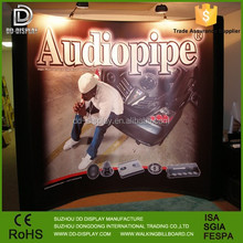 Oval folding magnetic pop up banner for trading show