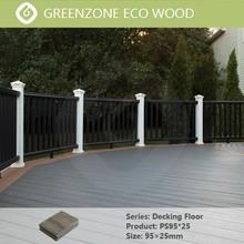 Supply outdoor wood composite decking flooring antiflaming antiskid hotel veranda garden decking flooring plastic wood composite