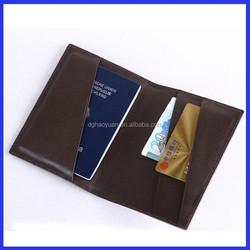 personalized travel pu genuine leather passport holder