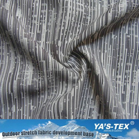 Woven Polyester Stripe Printed Fabric For Shirt/100% Polyester Fabric