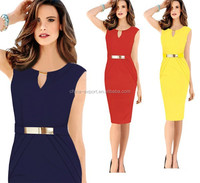 JPSKIRT1504827 Romatic V-neck Sleeveless Slim Pencil woman dresses