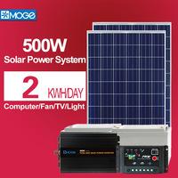 Moge home portable solar kit system 500watt high configutation