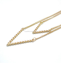 Gold Double Layering V Necklace Thin Chain Dainty Layered Jewelry