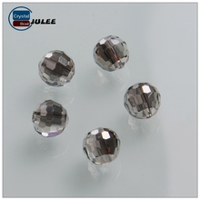 Faceted round crystal beads fit in making crystal crafts lastest glass beads supplier