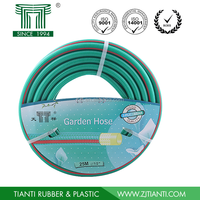 2015 PVC Reinforced 1/2'' x25m Striped Garden Hose with Spray Nozzles