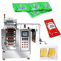 automatic multi lanes sachet shampoo/tomato paste liquid packing machine