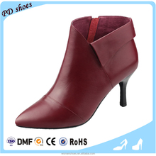 PDB033 women genuine leather genuine gray leather high heel ladies winter leather boots