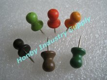 Office Used 100% Natural Wooden Push Pin with Coated Color