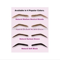 human hair hand tied lacebase eyebrow extension