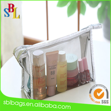 Manufacturer Wholesale 2015 Alibaba China Market Clear PVC Mini Ladies Travel Cosmetic Bags Cheap