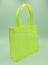 2015 best sell glitter yellow PVC shopping bags /gift bags