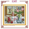 NKF The spring outside the window counted cross stitch