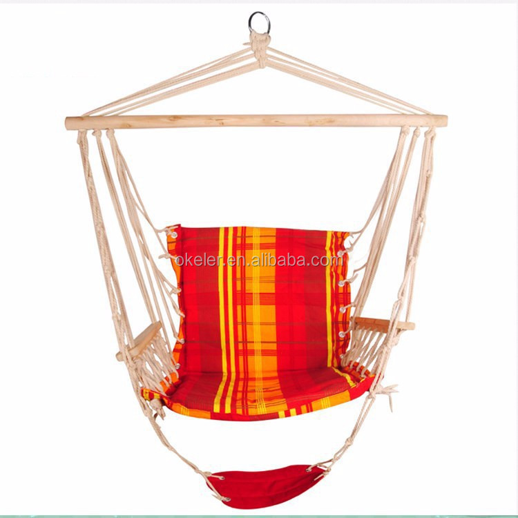 Clear Stock Wholesale Garden Furniture Outdoor Hanging Cotton Wood Hammock Ch