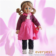 "2015 customized 18"" dolls soft body/naked girl doll/real baby vinyl dolls"