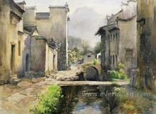 modern oil painting rural landscape painting on canvas for home decoration