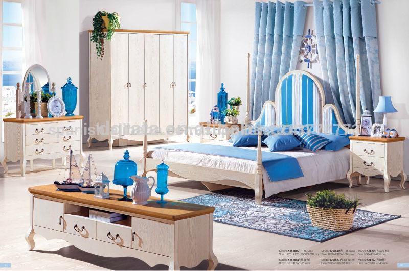 El ltimo 2014 estilo mediterr neo muebles del dormitorio es hecho por la madera s lida y e1 - Muebles estilo mediterraneo ...