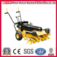 6.5hp gasoline engine SSG65100 snow sweeper high quality of road sweeper truck