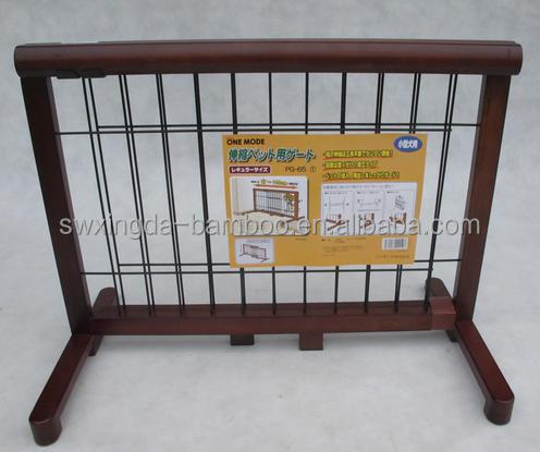 Hot sale comfortable bamboo indoor pet fence for dog