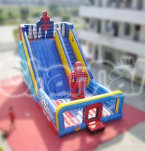 commercial giant inflatable spiderman slide for children and adults for sale