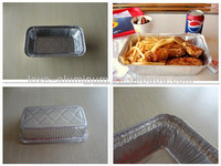 Recyclable Household Environmental Custom Made Medium Rectangle Meat Loaf Aluminium Foil Container