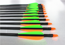 2014 hot sale fiberglass material arrows for archery bow