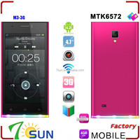 china supplier M3A Unlocked MTK 6572 Dual Core 4.7 inch Android 3G Smart Cell Phone 4.2 MTK 512MB cheap big screen android phone
