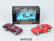 Promotional Vintage metal car model 1 32 Retro pull back diecast car models